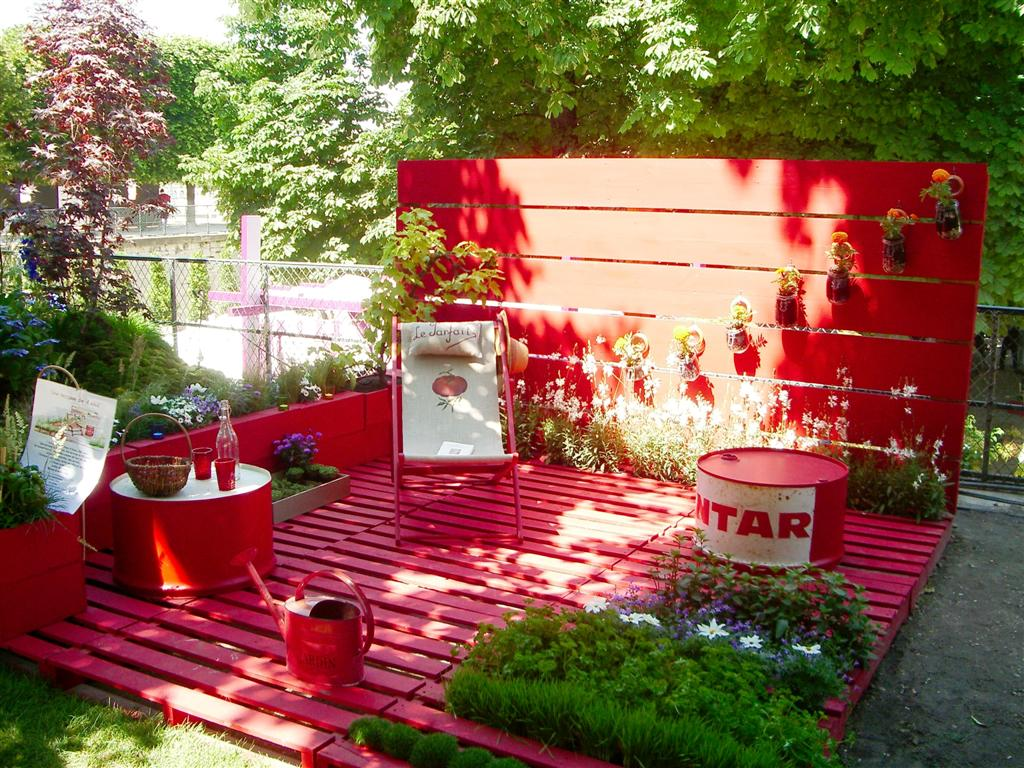 Astuces d co et diy archives mademoiselle d co blog d co for Terrasse de jardin en palette
