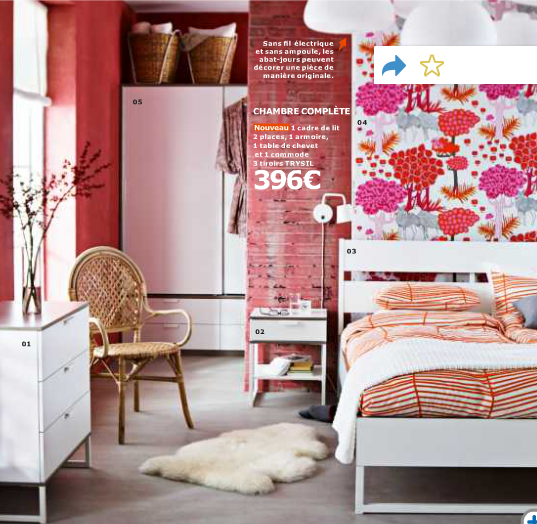 Catalogue Ikea - belle chambre Trysil - p119