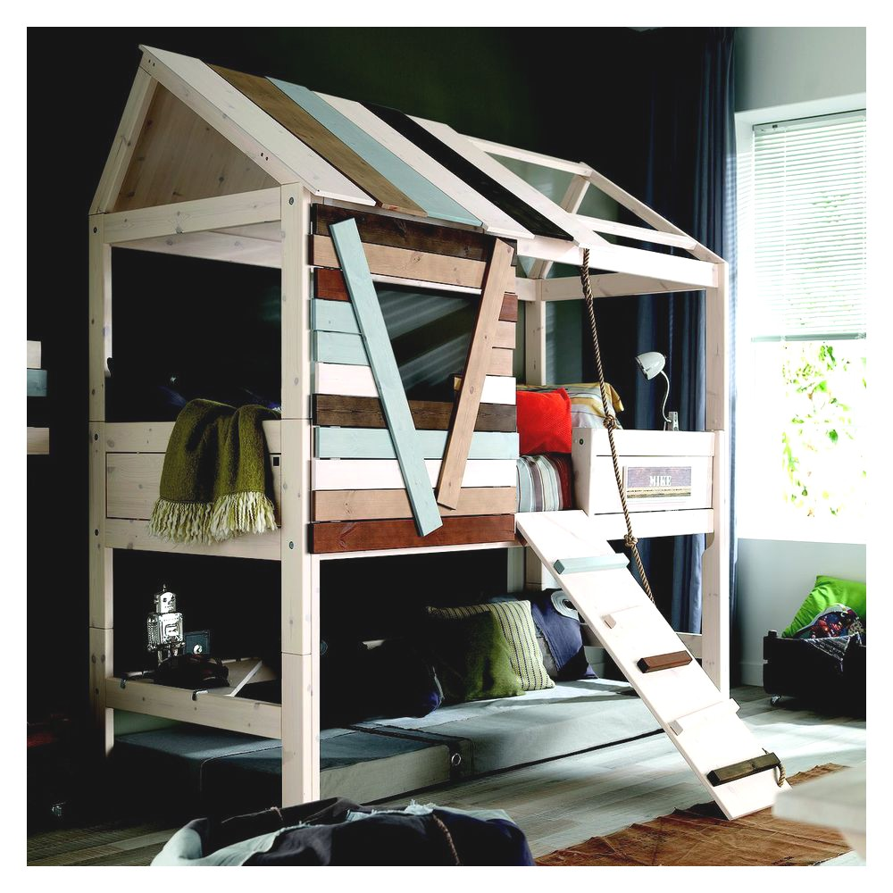 lit cabane autour de bebe. Black Bedroom Furniture Sets. Home Design Ideas