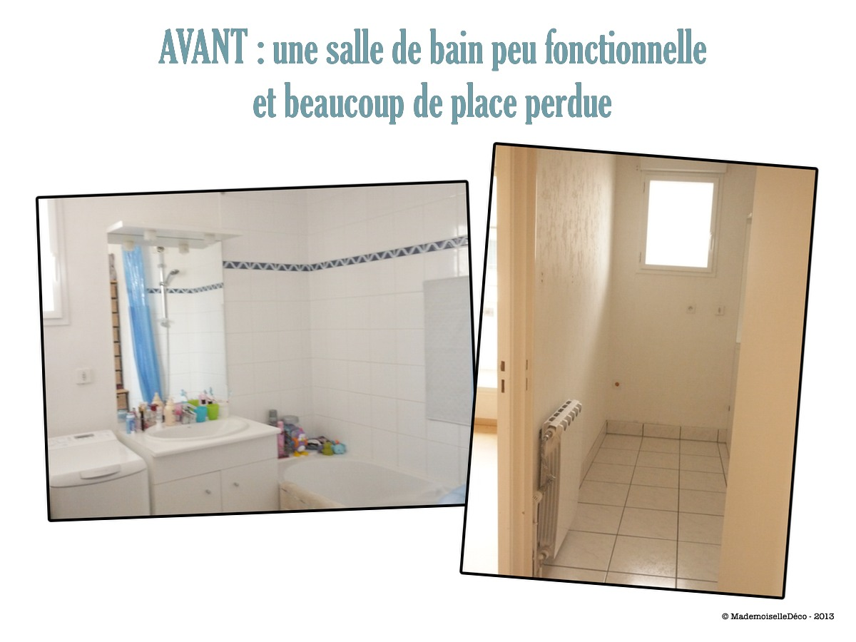 Avant apr s r novation d 39 une salle de bain for Renovation mur salle de bain