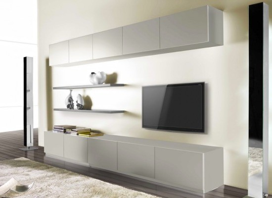 grand meuble tv avec rangement. Black Bedroom Furniture Sets. Home Design Ideas