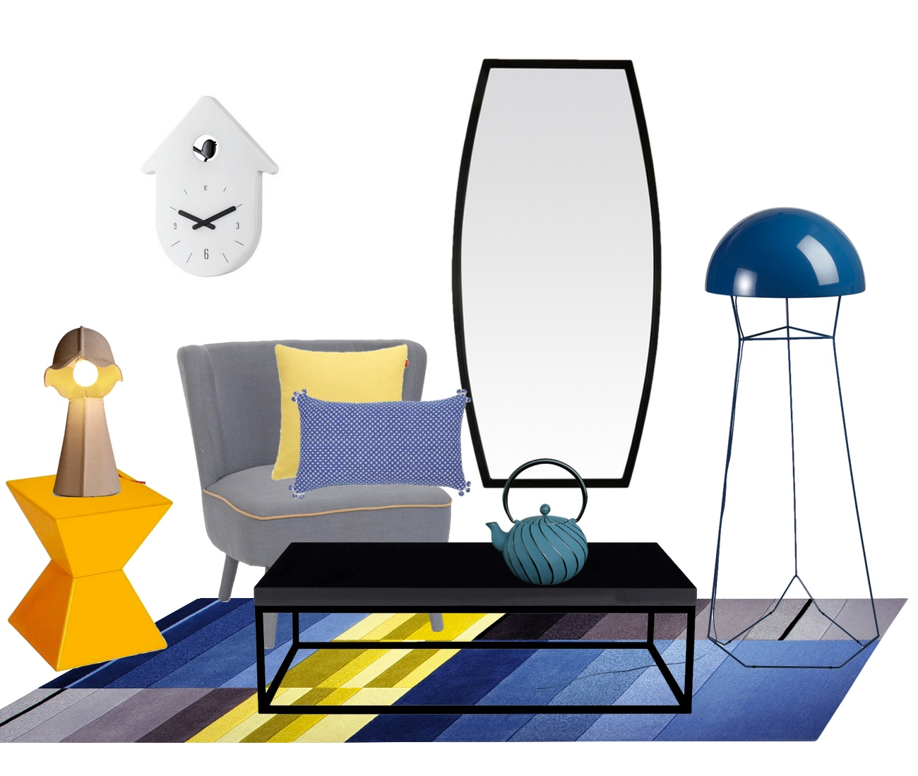 des soldes en jaune et bleu mademoiselle d co blog d co. Black Bedroom Furniture Sets. Home Design Ideas